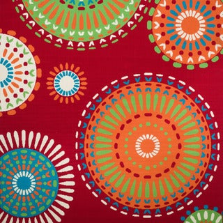 Christopher Knight Home Roxanne Mala Indoor/Outdoor Red Rug (7' Square)