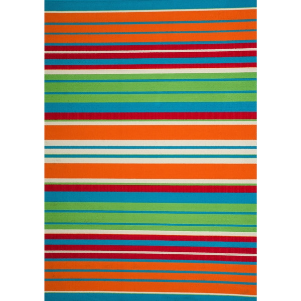 Chic Indoor Outdoor Stripe Rugs 6 Colors Available: Shop Christopher Knight Home Roxanne Lex Indoor/Outdoor