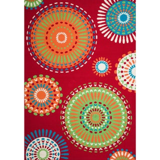 Christopher Knight Home Roxanne Mala Indoor/Outdoor Red Rug (5' x 8')