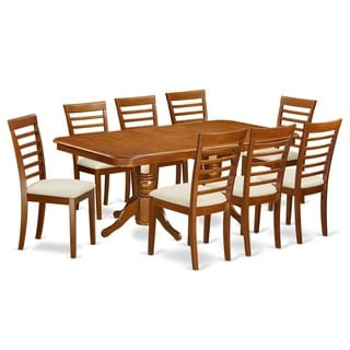 NAML9-SBR 8-chair 9-piece Dining Room Table Set With Leaf