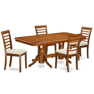 NAML5-SBR 4-chair 5-piece Dining Room Set with Leaf