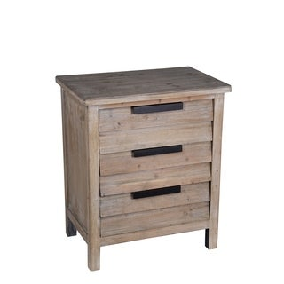 Perfect Privilege Transitional Natural Finish 3 Drawer Accent Stand