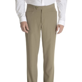 Sansabelt Men's Axle Solid Poplin Top-pocket Slim-cut Dress Pants (Option: Taupe-R38)