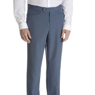 Sansabelt Men's Axle Solid Poplin Top-pocket Slim-cut Dress Pants