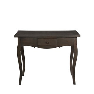Privilege Chocolate Brown Wood 1-drawer Transitional Accent Console