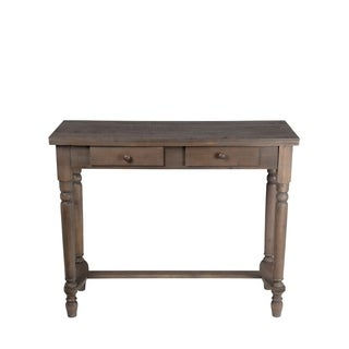 Privilege Transitional Natural Finish Wood 2-drawer Accent Console Table