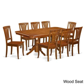 NAAV9-SBR-C 8-chair 9-piece Dining Room Set (3 options available)
