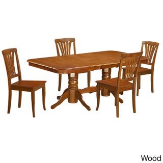 NAAV5-SBR Brown Rubberwood 5-piece Dining Room Set (3 options available)