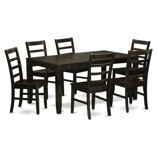 LYPF7-CAP 6-chair 7-piece Dining Room Set with Leaf