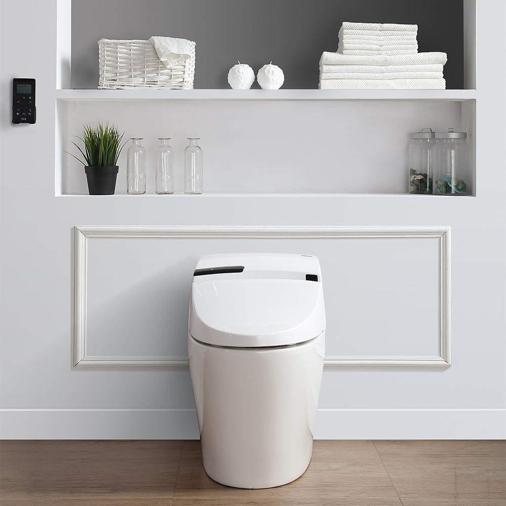 OVE Decors Alfred Smart White 1-piece Toilet and Bidet (A...