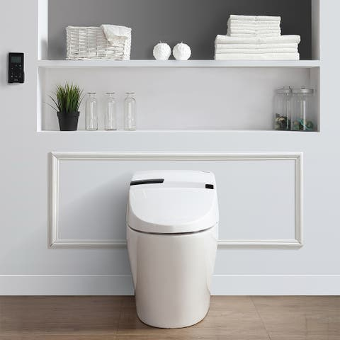 OVE Decors Alfred Smart White 1-piece Toilet and Bidet - N/A