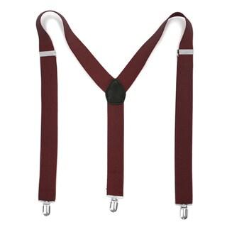 Ferrecci Premium Unisex Spandex/Faux Leather Mod Vintage-style Clip-on Suspenders