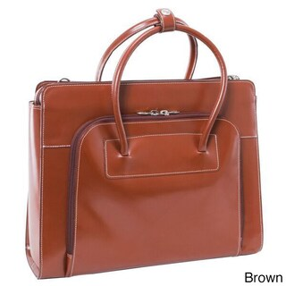 McKlein Lake Forest Italian Leather 15.4-inch Laptop Tote Bag (Option: Brown)