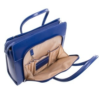 McKlein Lake Forest Italian Leather 15.4-inch Laptop Tote Bag