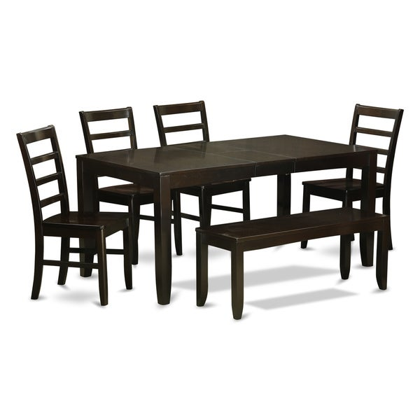Shop Cuppucino Rubberwood 6-piece Dining Table Set With