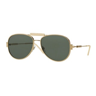 Versace Men's VE2167Q 125271 Gold Metal Pilot Sunglasses