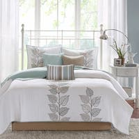 Madison Park Jocelyn 6-piece Coverlet Set  Queen Size - Seafoam Blue (As Is Item)