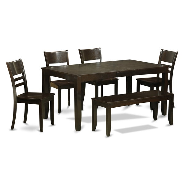 Wooden Importers Lynfield 6 Piece Dining Set: Shop LYFD6-CAP 4-chair And Dining Bench 6-piece Dining Set