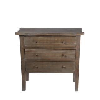 Privilege Natural-finish Wood 3-Drawer Side Table