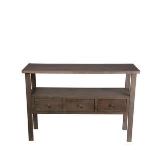 Privilege Natural-finish Wood 3-drawer Accent/Console Table