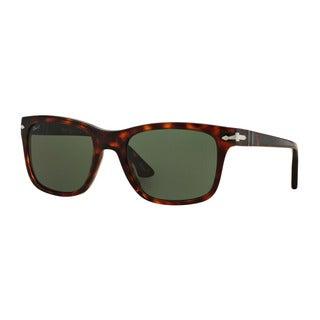 Persol Men's PO3135S 24/31 55 Havana Plastic Square Sunglasses