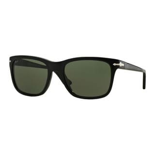 Persol Men's PO3135S 95/31 55 Black Plastic Square Sunglasses