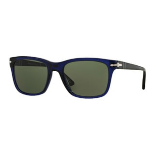 Persol Men's PO3135S 181/31 55 Blue Plastic Square Sunglasses