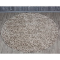 Shaw Bling Collection Super Shag Oversized Area Rug (12' Round)