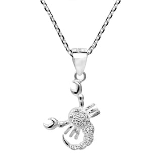 Scorpio Zodiac Sign Cubic Zirconia 925 Silver Necklace (Thailand)
