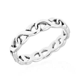 Eternal Linked Infinity Band .925 Sterling Silver Ring (Thailand)