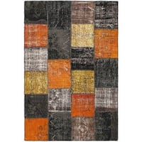 eCarpetGallery Yama Multicolored Cotton and Wool Handmade Patchwork Rug (5'4 x 7'11)