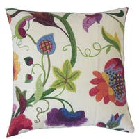Hesperia Floral Throw Pillow Cover