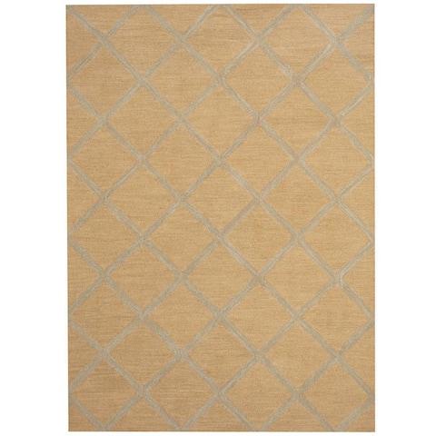 Handmade One-of-a-Kind Chevron Wool Rug (India) - 5' x 7'