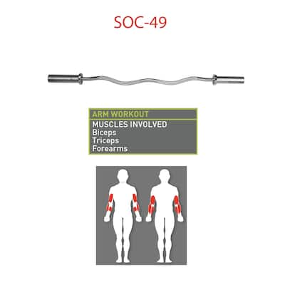 Marcy Chrome-plated Steel Olympic Curl Bar