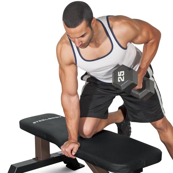 SteelBody Flat Black Steel Weight Bench