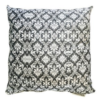 Maxwell Dickson Black and White Floral Throw Pillow
