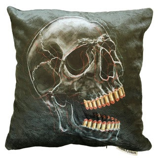 Maxwell Dickson Bite the Bullet Multicolor Polyester Square Throw Pillow