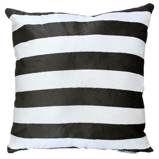 Maxwell Dickson Black/White Polyester 18-inch x 18-inch Throw Pillow