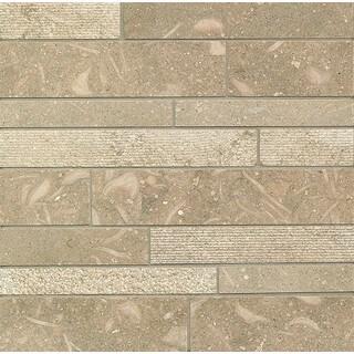 Sea Grass Random Linear Mosaic Stone Tile (Pack of 10)