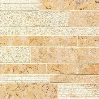 Royal Oyster Random Linear Mosaic Stone Tile (Box of 10 Sheets)