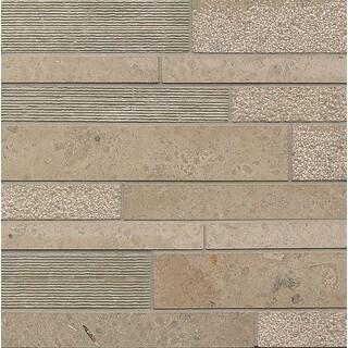 Jura Grey Random Linear Mosaic Stone Tile (Pack of 10)