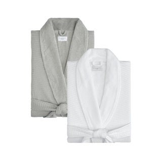 Cotton Waffle Terry Robe
