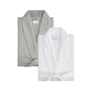 Cotton Waffle Terry Robe|https://ak1.ostkcdn.com/images/products/11997335/P18876431.jpg?impolicy=medium