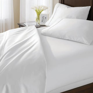 White 300 Thread Count Egyptian Cotton Sateen 4-piece King Sheet Set