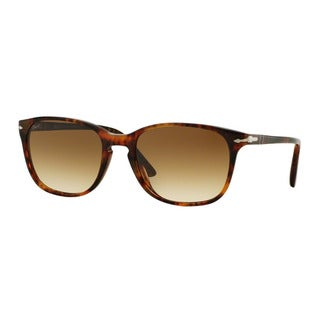 Persol Men's PO3133S 901651 Havana Plastic Square Sunglasses