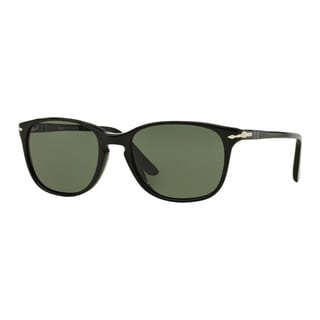 Persol Men's PO3133S 901431 Black Plastic Square Sunglasses