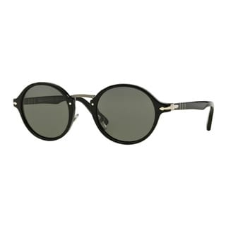 Persol Men's PO3129S 95/58 Black Plastic Round Polarized Sunglasses