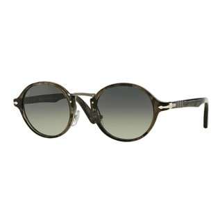 Persol Men's PO3129S 102071 Grey Plastic Round Sunglasses
