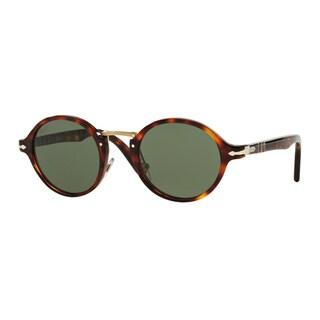 Persol Men's PO3129S 24/31 Havana Plastic Round Sunglasses