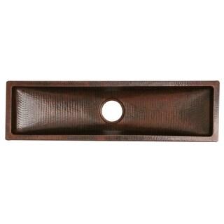 Unikwities Oil Rubbed Bronze Copper 35-inch 14-gauge Vegetable Bar Undermount Sink